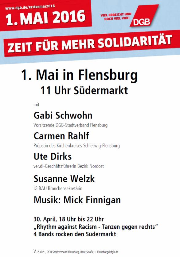 1. Mai 2016 DGB Flensburg