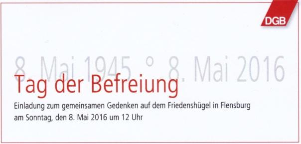 8. Mai 2016 Flensburg