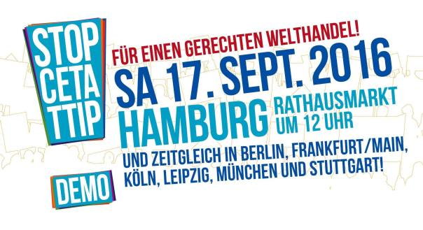 TTIP Demo Hamburg 17 September